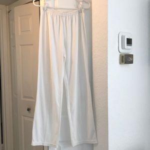 White Terry Pants Sz Large w Elastic Waist